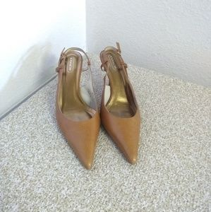 Coach Alice Brown Leather Sandals